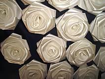 Drobnosti - Saténové ruže so zicherkou - 6577287_