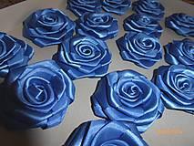 Drobnosti - Saténové ruže so zicherkou - 6577290_