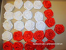 Drobnosti - Saténové ruže so zicherkou - 6577298_