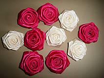 Drobnosti - Saténové ruže so zicherkou - 6577300_
