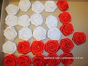 Drobnosti - Saténové ruže so zicherkou - 6577289_
