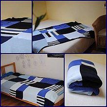 Úžitkový textil - Modrá prikrývka na postel - 6576209_