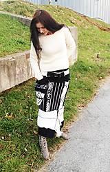Kabáty - Ambra-čierno biela -kabát, sukňa - 6580920_