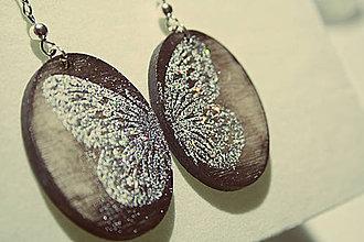 Náušnice - Naušnice - drevené - ornament 07 - 6581643_