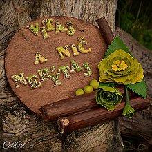 Tabuľky - Vitaj a nič nepýtaj - tabuľka na dvere - 6580633_