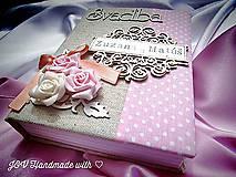 Papiernictvo - ♡ Romantický ♡ zápisník pre nevestičku ♡ - 6580938_