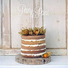 Dekorácie - PAN A PANI zápich na tortu - 6581640_