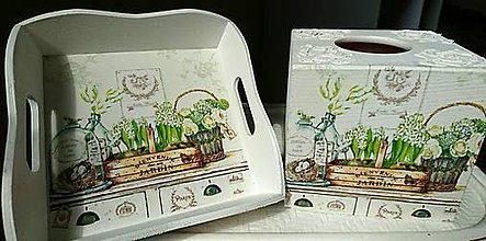 Krabičky - Sada biela: box a miska