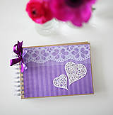 Papiernictvo - Svadobná kniha hostí - fialová - 6582666_