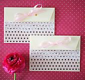 Papiernictvo - Scrapbook svadobná obálka na peniaze - 6582742_