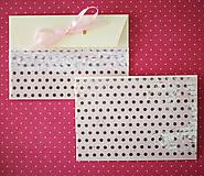 Papiernictvo - Scrapbook svadobná obálka na peniaze - 6582743_