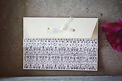 Papiernictvo - Scrapbook svadobná obálka na peniaze - 6582980_