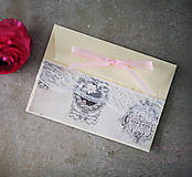 Papiernictvo - Ružová scrapbook obálka na peniaze - 6582997_