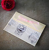 Papiernictvo - Ružová scrapbook obálka na peniaze - 6582998_