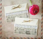 - Rustic svadobné obálky na peniaze - 6583007_
