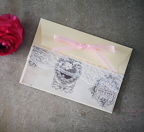 Ružová scrapbook obálka na peniaze