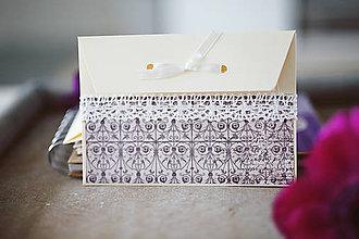 Papiernictvo - Scrapbook svadobná obálka na peniaze - 6582982_