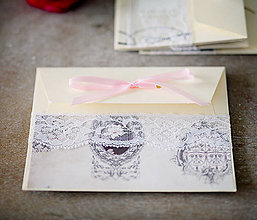 Papiernictvo - Ružová scrapbook obálka na peniaze - 6582996_