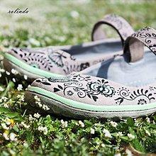 Obuv - Folklórní balerínky - malba na vlastní boty - 6582692_