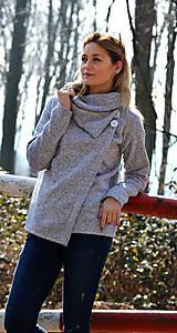 Kabáty - Šedý kabátek - 6584390_
