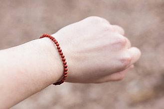 Náramky - Jemné náramky, 4mm (červený jaspis) - 6583343_