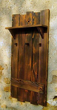 Nábytok - Drevený vešiak - 6584078_