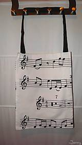 Nákupné tašky - Noty- nákupná taška - 6584529_