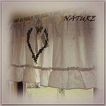 Úžitkový textil - Lněná sv.přírodní záclonka kolekce NATURE 200x50cm - 6581941_