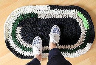 Úžitkový textil - hačkovaný koberec/ rohožka - 6583675_