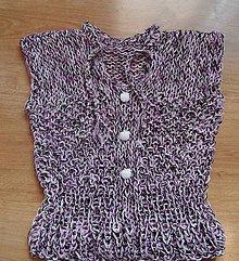 Detské oblečenie - vestička - fialový melír - 6583795_