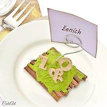 Darčeky pre svadobčanov - Darčeky pre svadobných hostí, menovky - iniciály - 6583662_