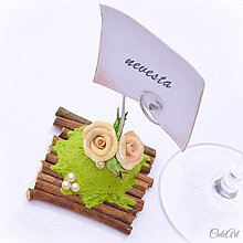 Darčeky pre svadobčanov - Darčeky pre svadobných hostí, menovky - ruže - 6583750_