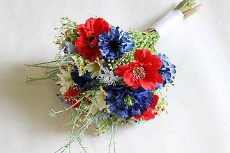 Kytice pre nevestu - Lúčna svadobná kytica - 6582533_