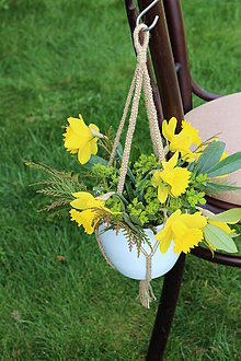 Dekorácie - macrame záves na kvetináč - 6582237_