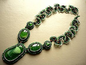 Náhrdelníky - Ojíněný - náhrdelník - 6587947_