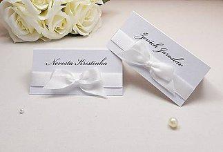 Papiernictvo - Perleťové svadobné menovky - 6584870_