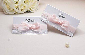 Papiernictvo - Svadobné menovky Pearl - 6584888_