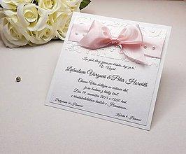 Papiernictvo - Svadobné oznámenie Pearl - 6584895_