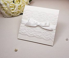 Papiernictvo - Svadobné oznámenie Lace gold - 6584903_