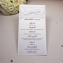 Papiernictvo - Svadobné menu Lace - 6584906_