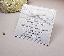 Papiernictvo - Svadobné oznámenie Lace - 6584920_