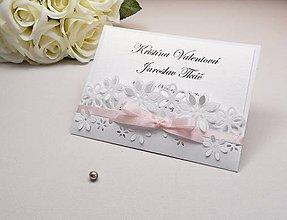 Papiernictvo - Svadobné oznámenie Floral - 6584941_