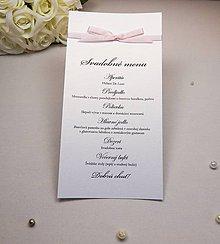 Papiernictvo - Svadobné menu Sweet - 6584944_