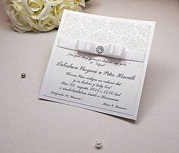 Papiernictvo - Svadobné oznámenie Damask kartičkové - 6585132_