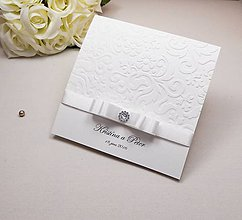 Papiernictvo - Svadobné oznámenie Romantic love - 6585348_