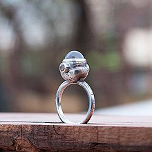 Prstene - Strieborný prsteň - Satelit - 6588205_