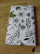 Papiernictvo - Obal na knihu v mäkkom s ftákmi - 6585042_