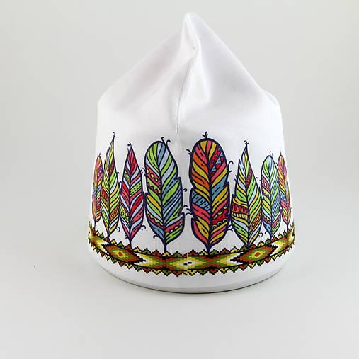 detská čiapka - indiánska čelenka