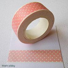 Papier - ružové bodky - 6587152_