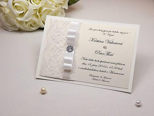 dec2ac986f08 Svadobné oznámenie White gold   Anije - SAShE.sk - Handmade Papiernictvo